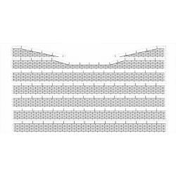 Bordures de quai voyageur moellons avec descentes (-HO-)