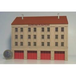 Caserne de pompiers fond de décor