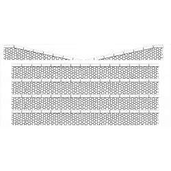 Bordures de quai marchandises pierres hexagonales (-N-)