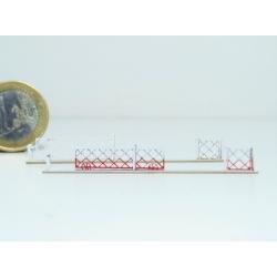 Barrières roulantes + portillons pour PN 4m (x2) (-N-)