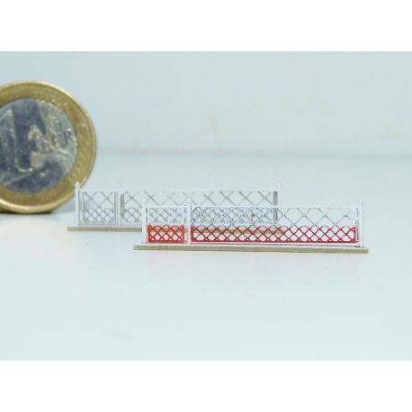 Barrières pivotantes + portillons pour PN 4m (x2) (-N-)
