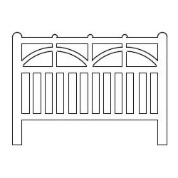Barrières béton 102 type Ouest/Etat (-N-)