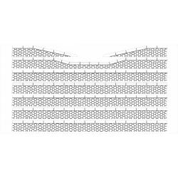 Bordures de quai voyageur pierres hexagonales avec descentes