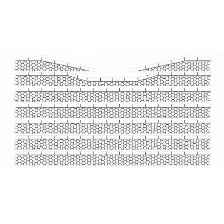 Bordures de quai voyageur pierres hexagonales avec descentes (-HO-)
