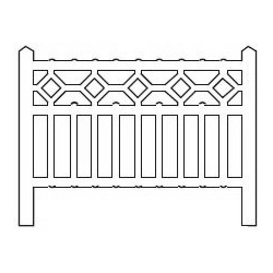 Barrières béton 103 type Nord