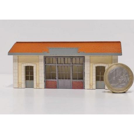 """Abri de quai """"PLM"""" type « Gare de Saint Désert »"""