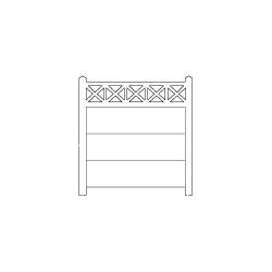 Clôture haute béton 202 type unifié (-N-)