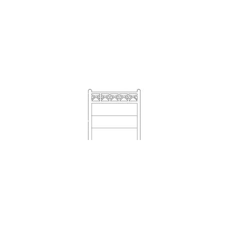 Clôture haute béton 203 type unifié (-N-)