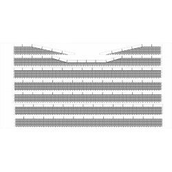 Bordures de quai voyageur briques avec descentes