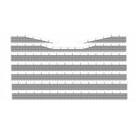 Bordures de quai voyageur briques avec descentes (-HO-)