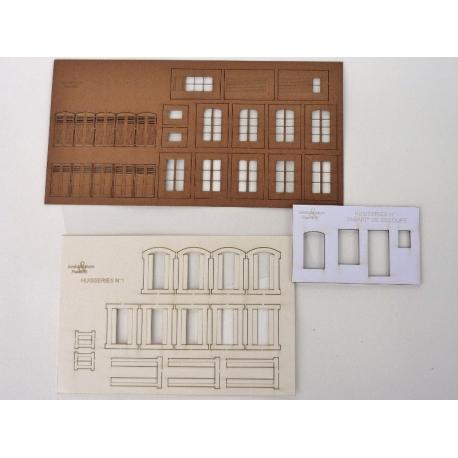 Planche d'huisseries n°1 + parements + gabarit de découpe (-HO-)