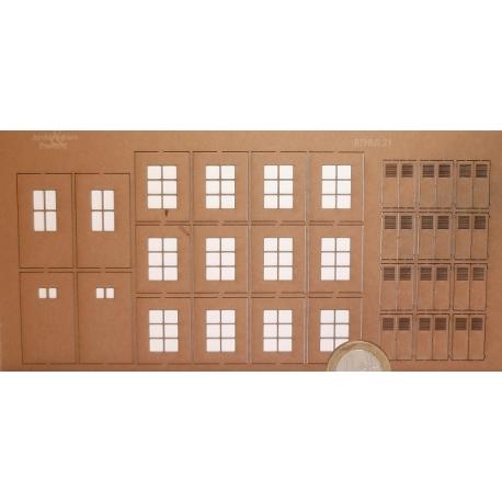 Planche d'huisseries n°2 + gabarit de découpe (-HO-)