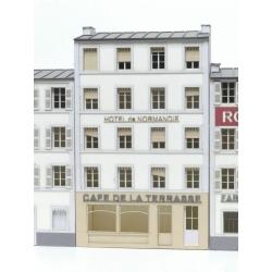 """IMMEUBLE DE VILLE POUR FOND DE DECOR CAFE 3LA TERRASSE"""""""