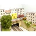 Bâtiments bas relief (FDD-ces 3 lettres indiquent que le bâtiment est prévu pour aller contre un pour fond de décor)